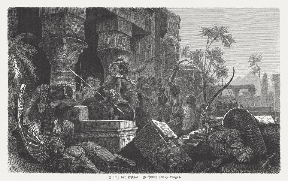 Invasion of the Hyksos in Egypt drawn by Hermann Vogel.