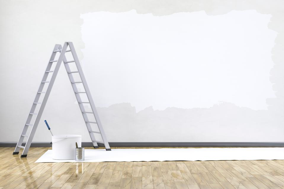 Ladder And Painting Equipment Indoors