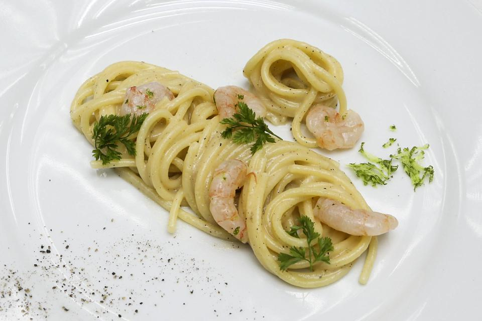 Heinz Beck gave a new spin to the Roman classic cacio e pepe.  (Andrew Francis Wallace/Toronto Star via Getty Images)