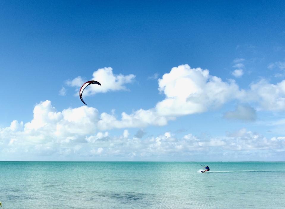 Kitesurfing dreams.
