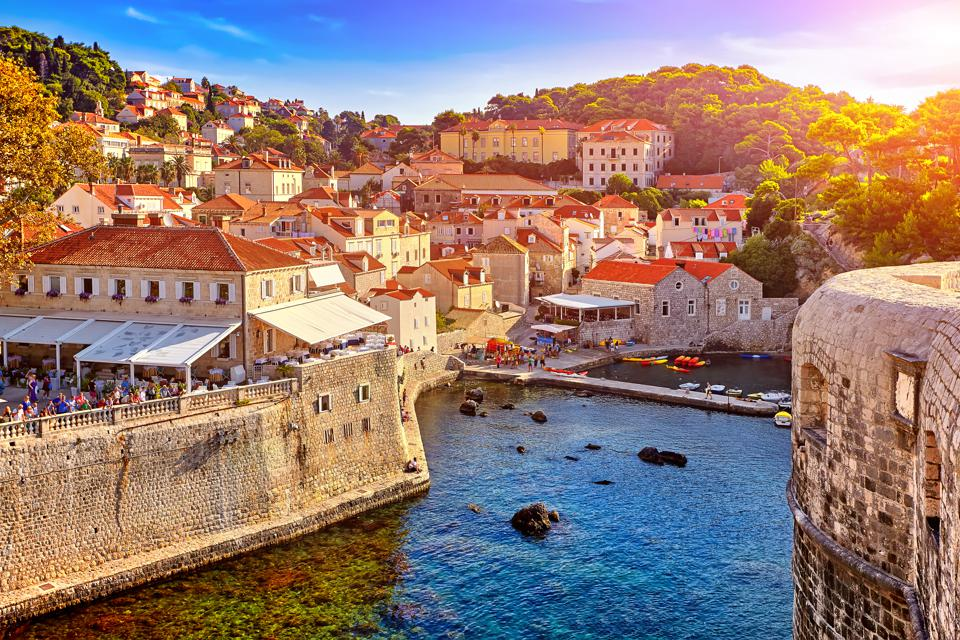 General view of Dubrovnik - Fortresses Lovrijenac and Boka. It's one of the best places to visit.