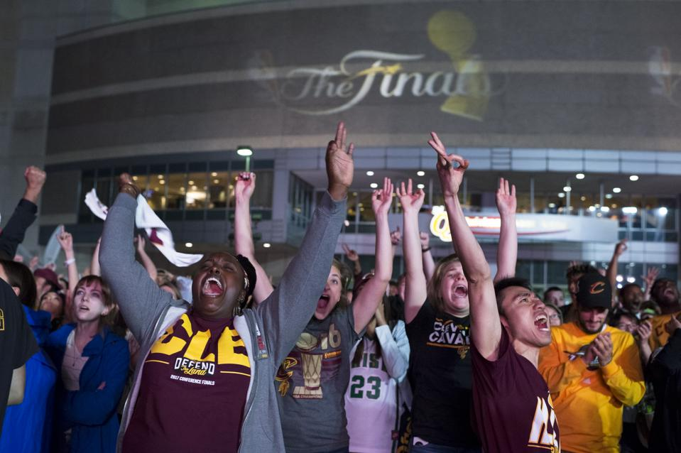 Cleveland Cavaliers fans during 2017 NBA Finals