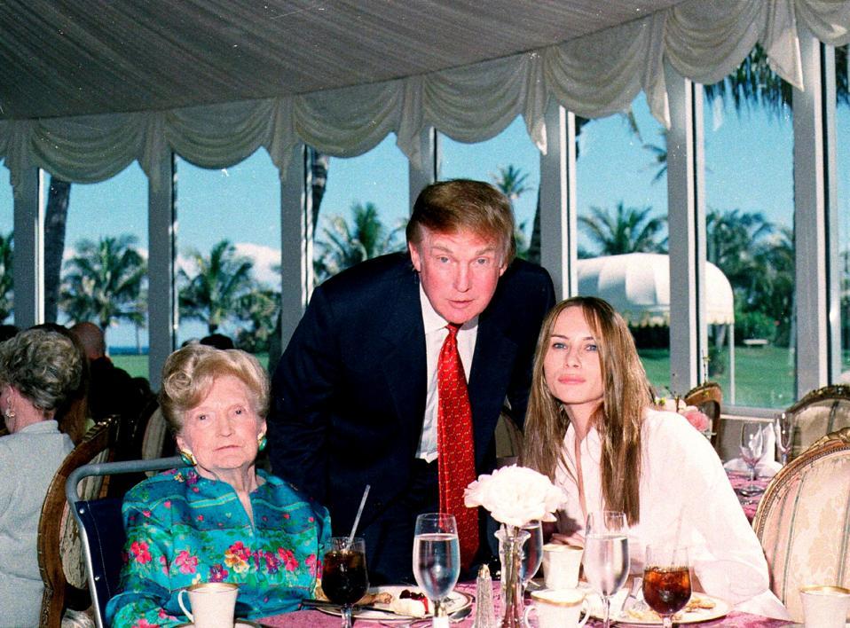 The Trumps At Mar-A-Lago
