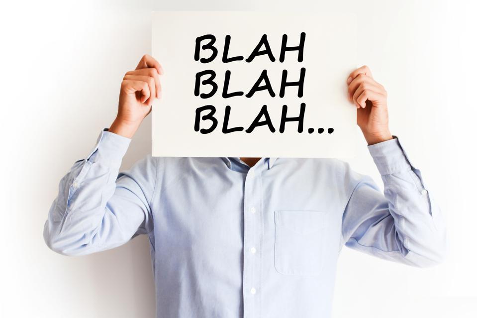 Employee not listening, blah blah concept