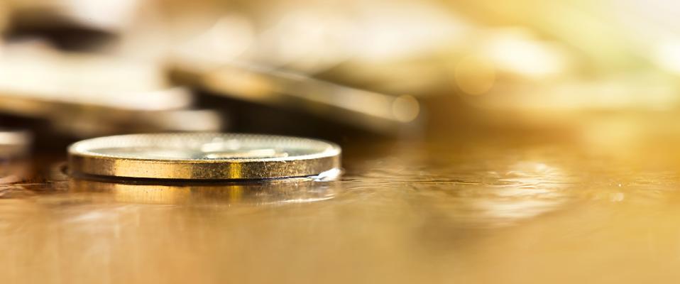 Golden money coin