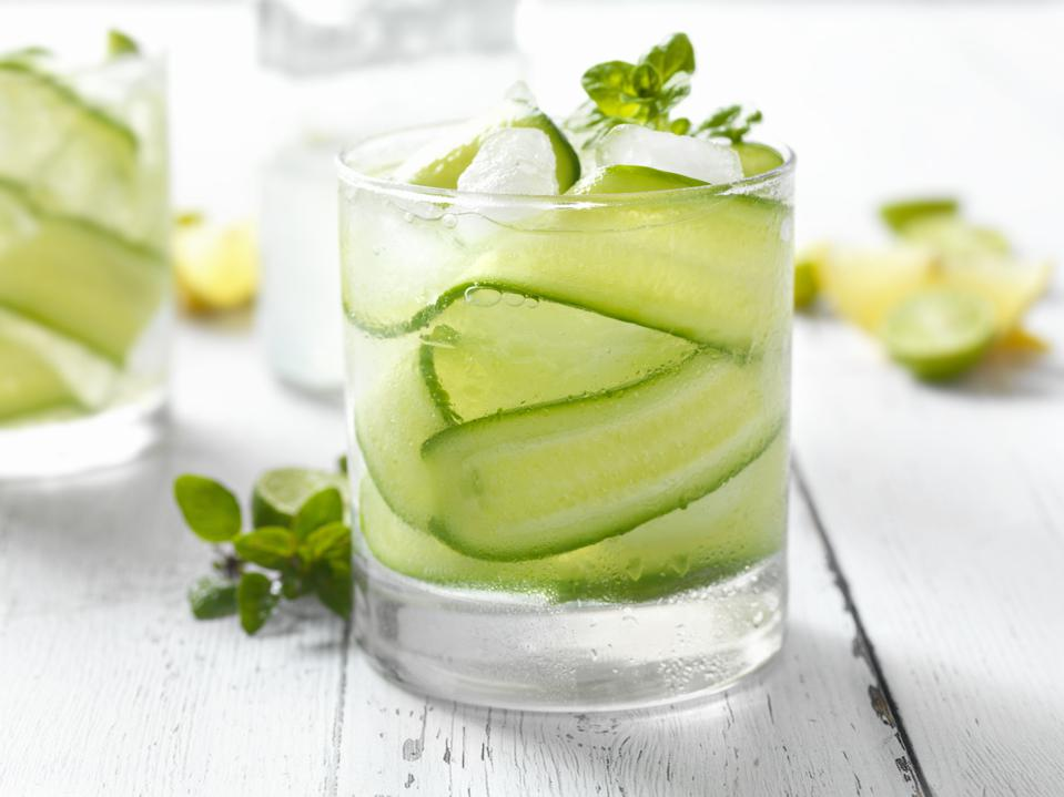 Cucumber, Basil and Citrus Cocktail