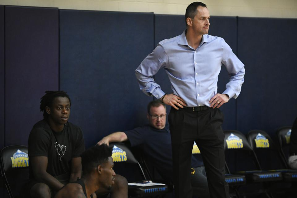 Denver Nuggets hold pre-draft practice for potential NBA draft prospects