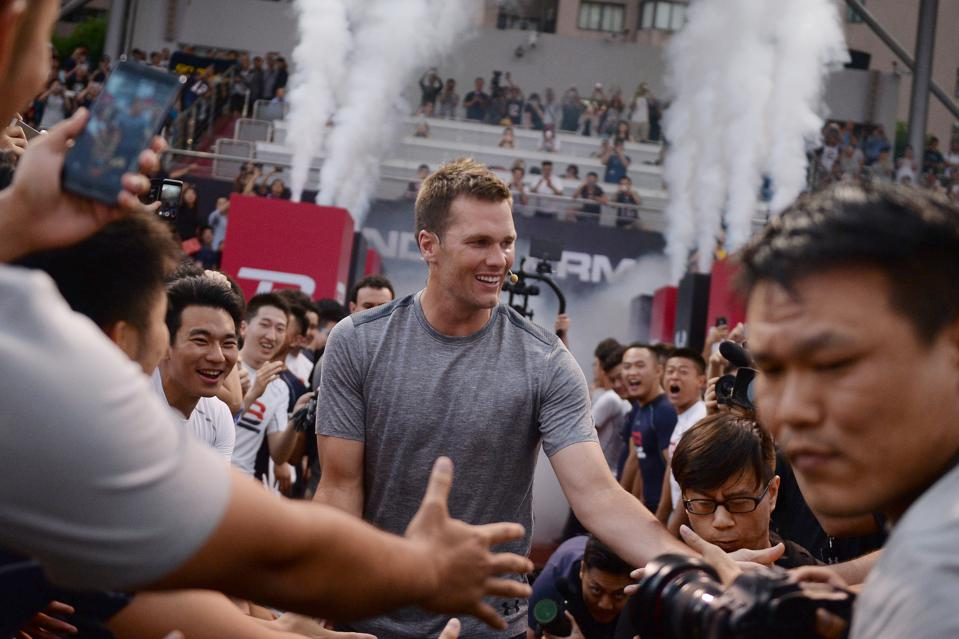 Tom Brady Takes Part In Promotional Training Event In Shanghai