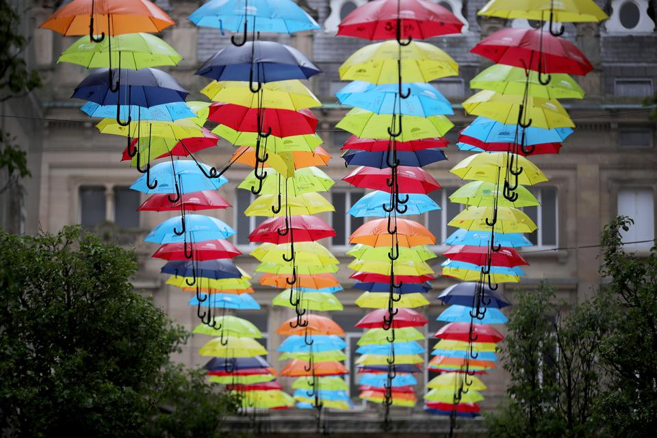Umbrella Art Installation In Liverpool by https://www.adhdfoundation.org.uk/