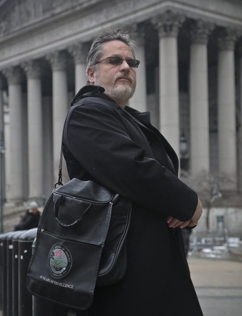 Jack Donson, former BOP Case Management Specialist outside Manhattan federal court
