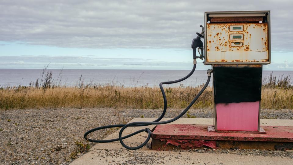 Abandoned Rusty Gas Pump