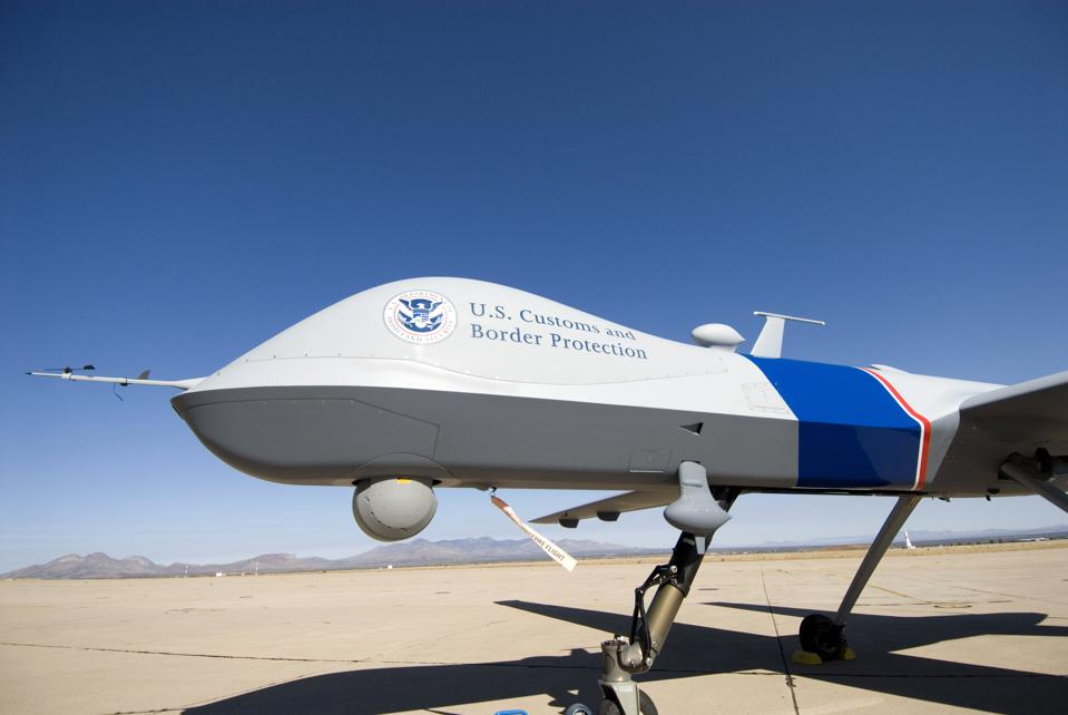 Customs And Border Protection Unveil Predator Surveillance Aircraft