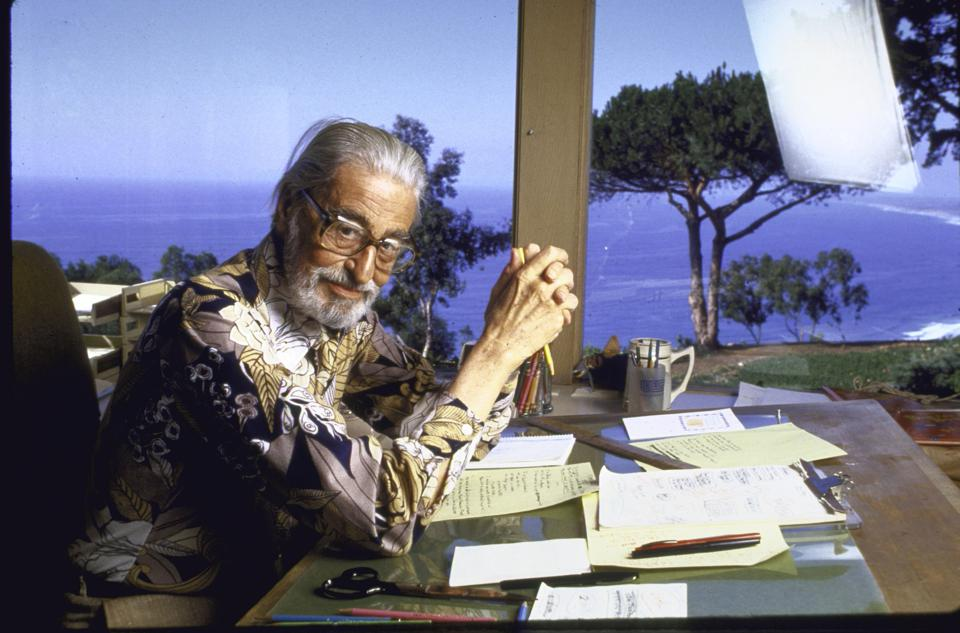 Author Theodore Geisel (″Dr Seuss″) at home
