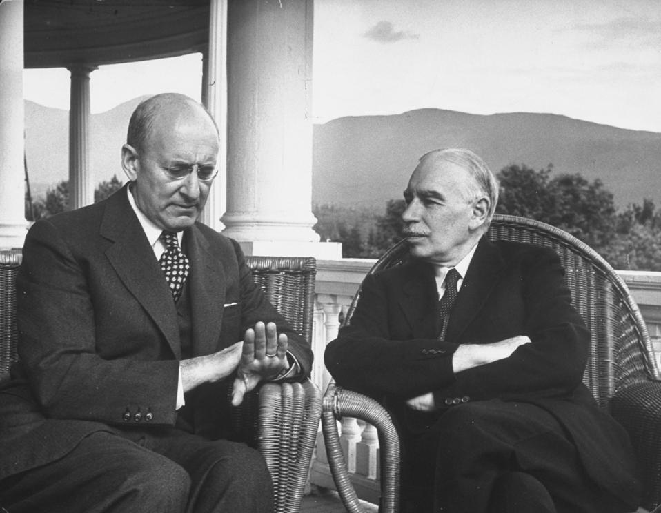 US Treasury Secy Henry Morgenthau Jr and British economist
