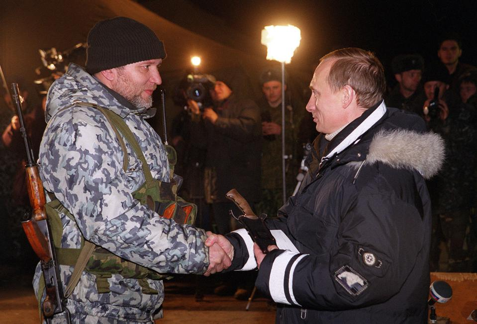 Putin meets a russian officer