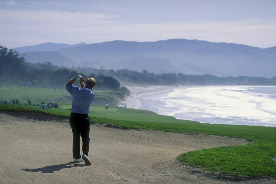 Jack Nicklaus on hole No. 8 at Pebble Beach