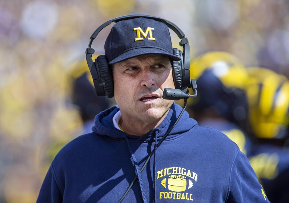 Jim Harbaugh Counters Player Compensation Law With NFL Draft Open Eligibility Proposal