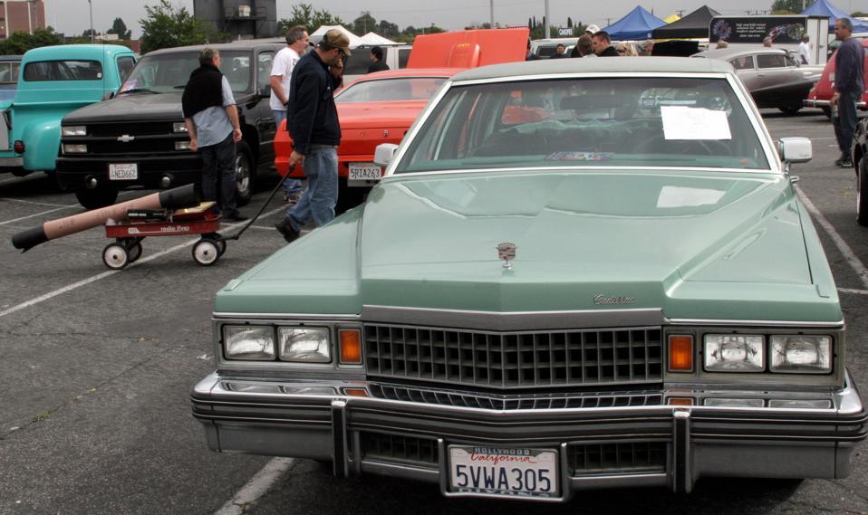 A Cadillac is seen on Long Beach's, Cali...
