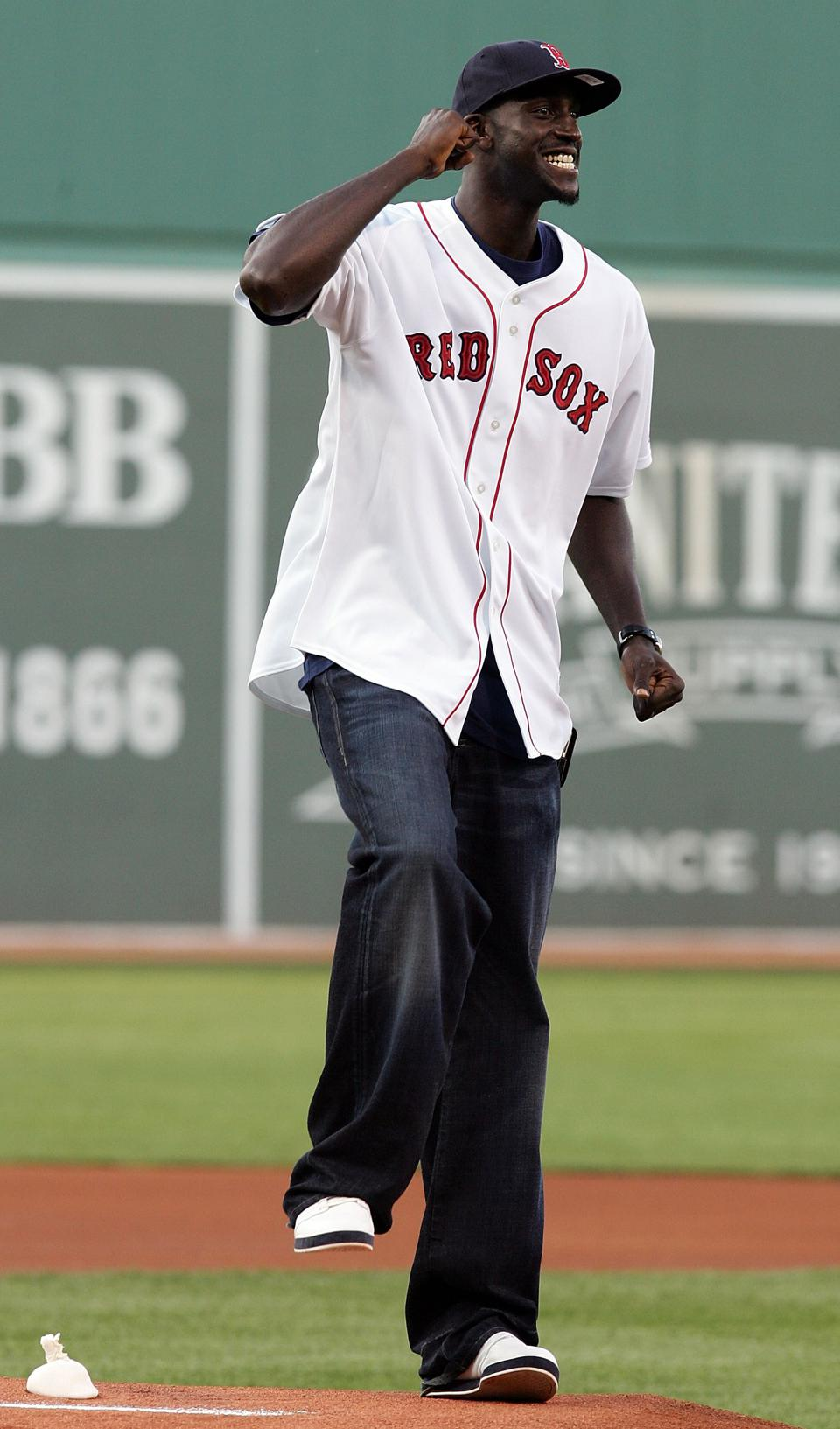 Boston Celtic Kevin Garnett Throws Out First Pitch
