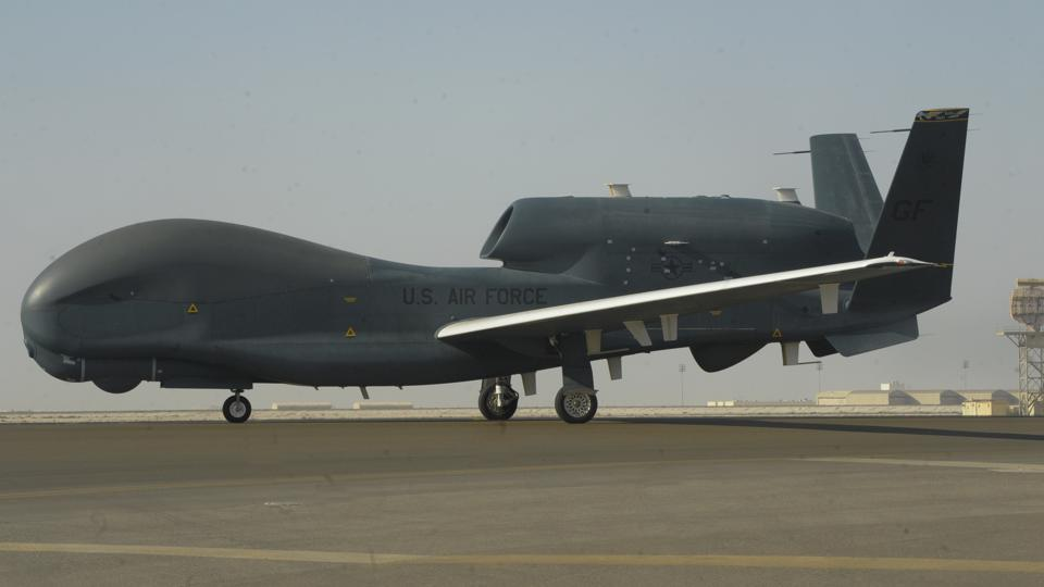 An RQ-4 Global Hawk.