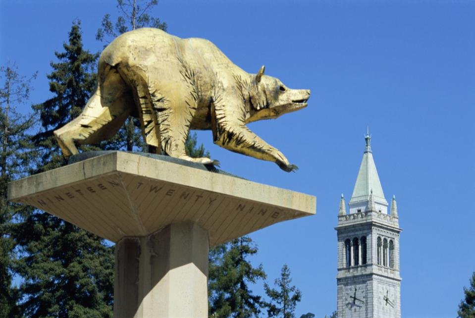 Statue of grizzly bear, University of California, Berkeley, California