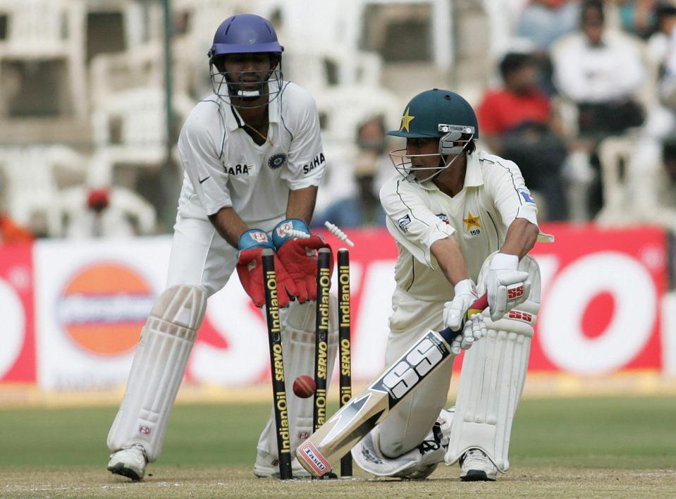 Pakistani cricketer Younis Khan bowled d