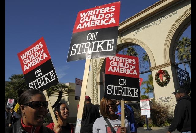 culture strike writers guild hollywood