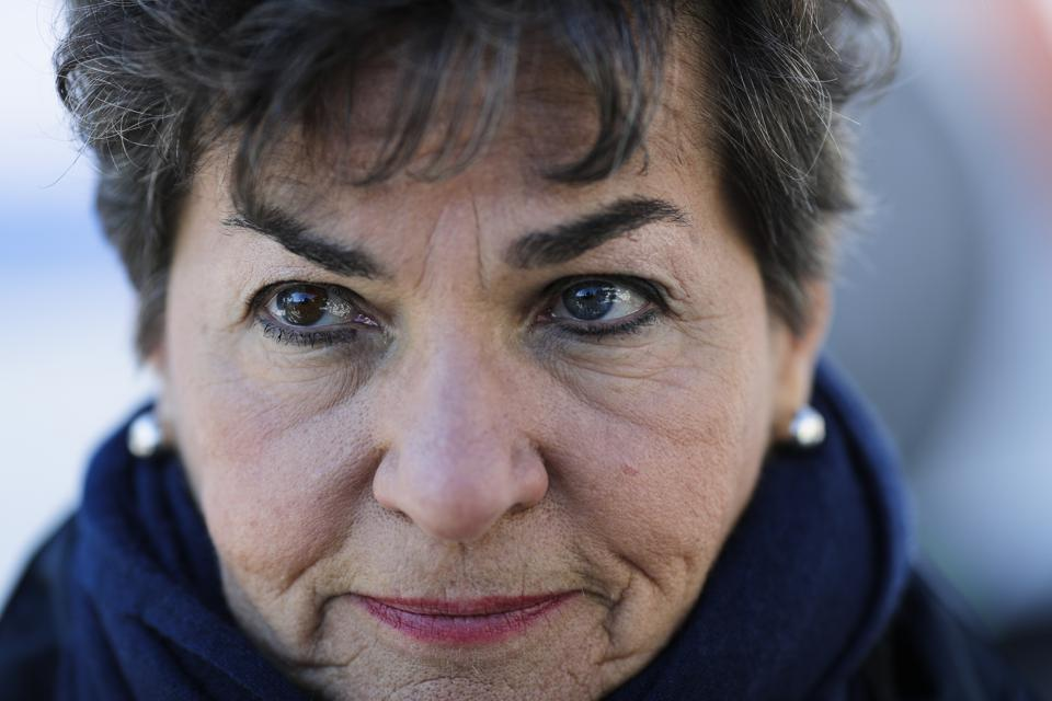 Former UN climate chief Christiana Figueres. (AP Photo/Markus Schreiber)