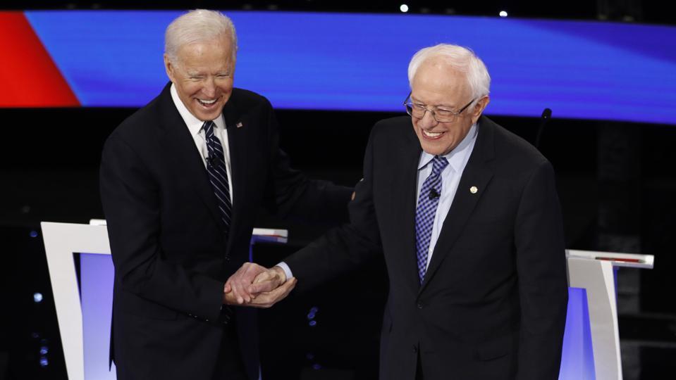 Bernie Sanders Joe Biden Election 2020 Debate