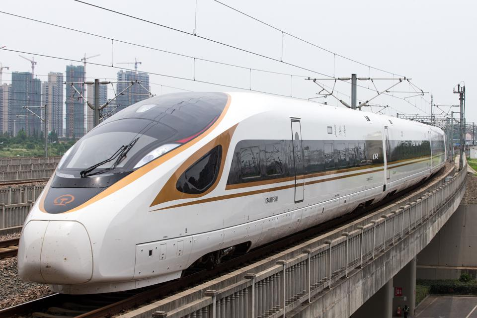 New Bullet Train ″Fuxing″ Debuts On Beijing-Shanghai Route