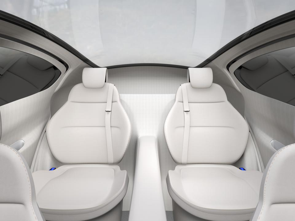 Rear seat of autonomous car