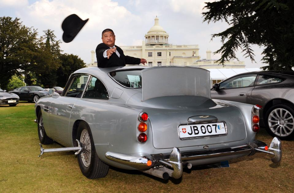 Bond Aston Martin on show ahead of auction