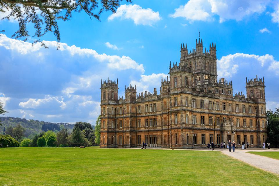 Highclere Castle in Hampshire, UK and setting for Downton Abbey