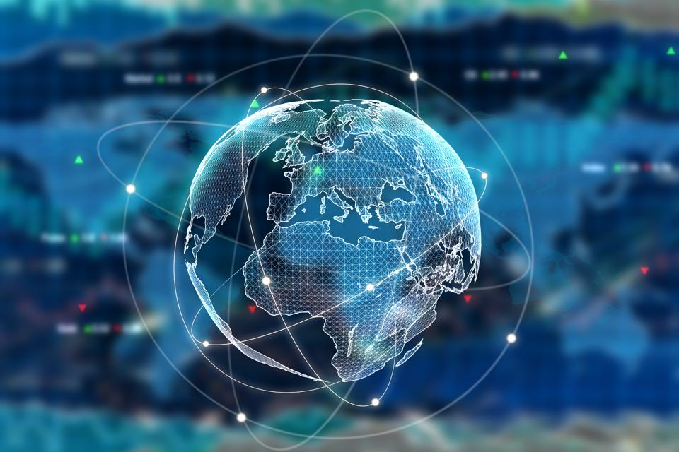 The picture shows a globe, representing international business.