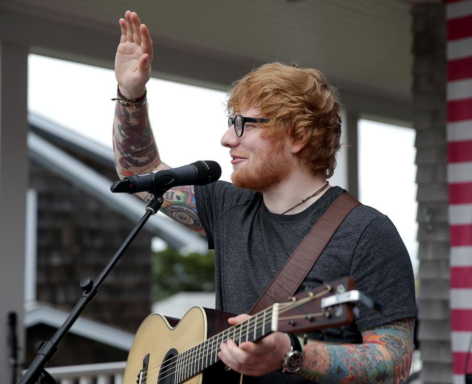 Ed Sheeran At Mix 104.1 Beach House