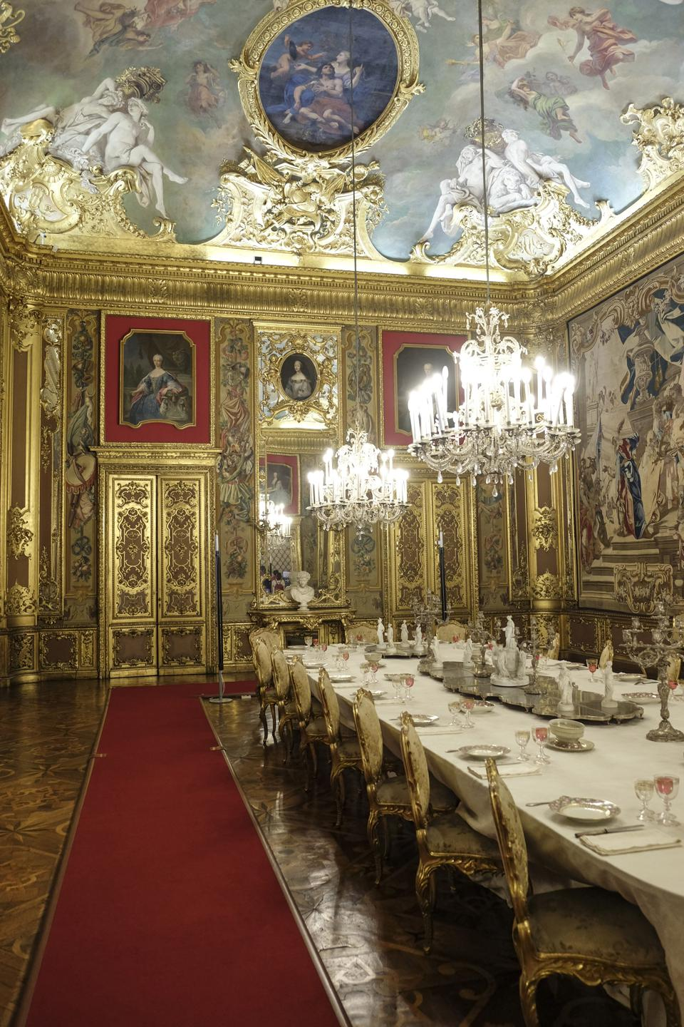 Dining room of the Palazzo Reale (Royal Palace).