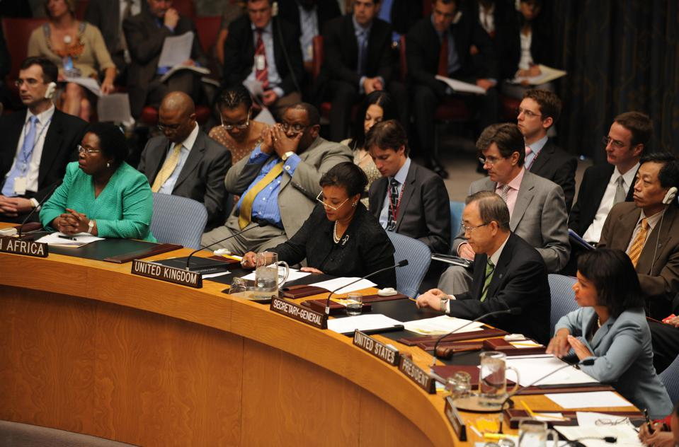 US Security Council meeting on Women and Peace and Security on June 19, 2008 at United Nations headquarters in New York.