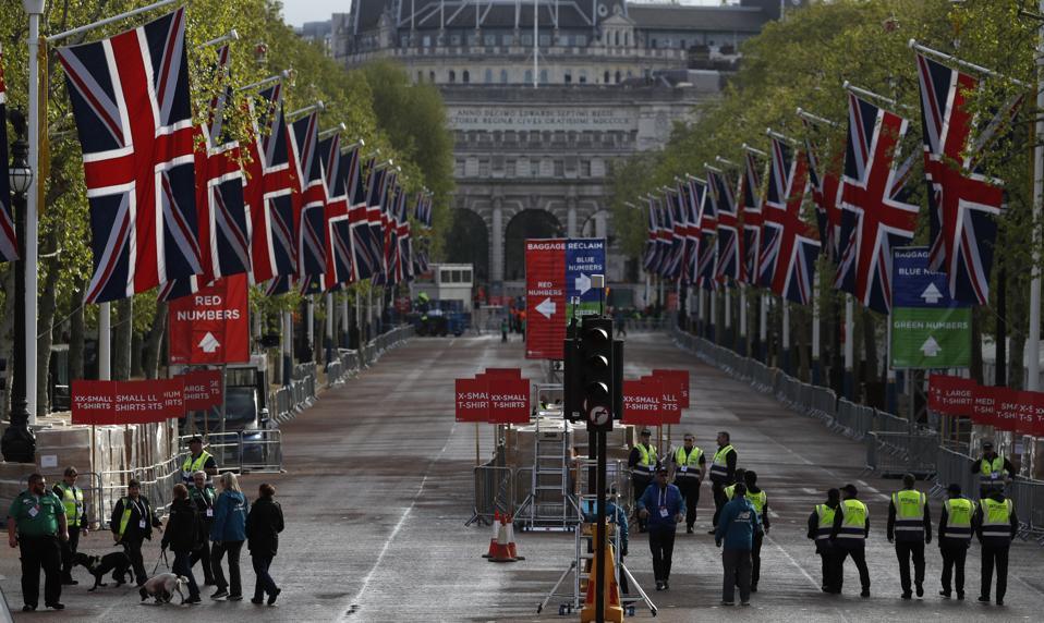 Britain London marathon coronavirus charity