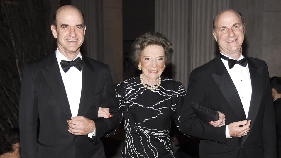 Gap cofounder Doris Fisher and two of her three sons, Bob (left) and Bill Fisher, in 2010.