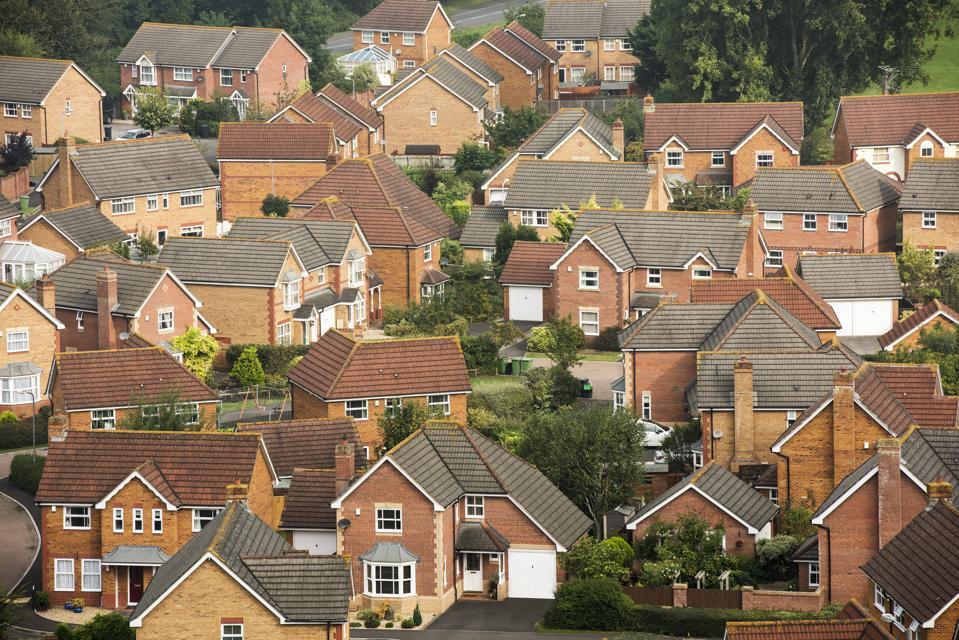 Aerial view of modern housing developement