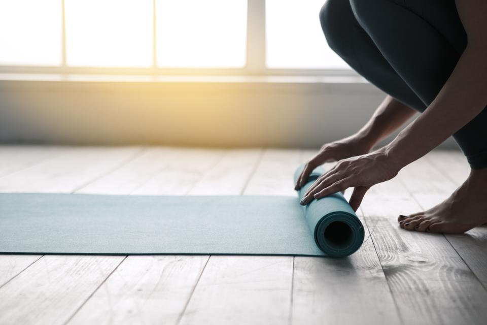 Blocks are one of the most important pieces of gear for yoga at home.