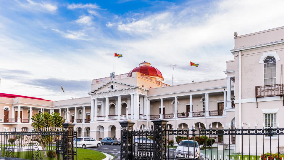 Parliament in Georgetown, capital of Guyana, South America