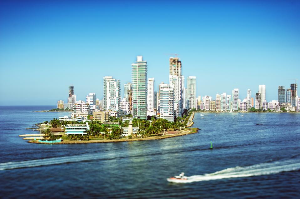 Skyline of Cartagena