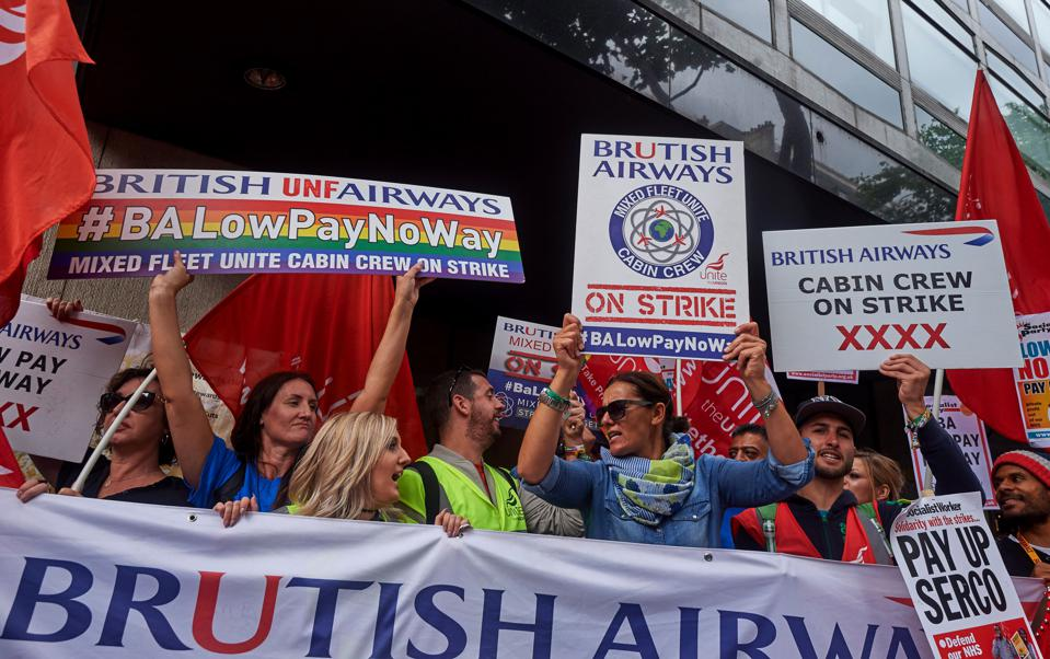 BRITAIN-TRANSPORT-AVIATION-BRITISH AIRWAYS-STRIKE