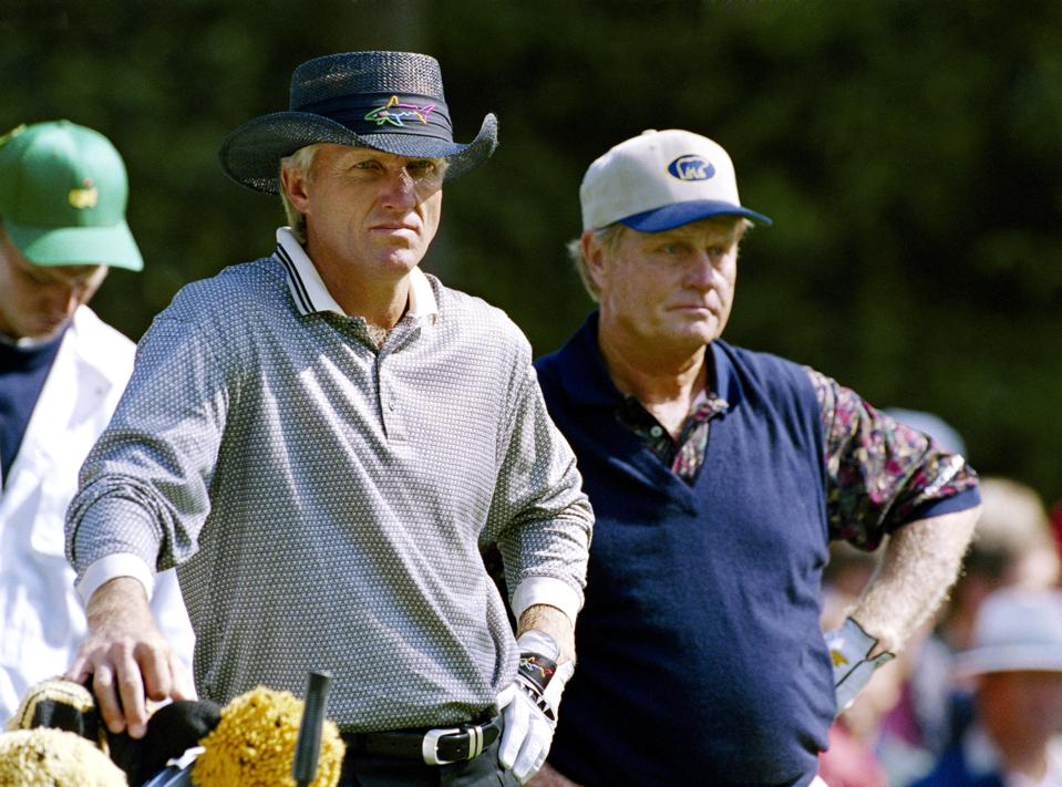 Augusta National Archive Greg Norman and Jack NIcklaus