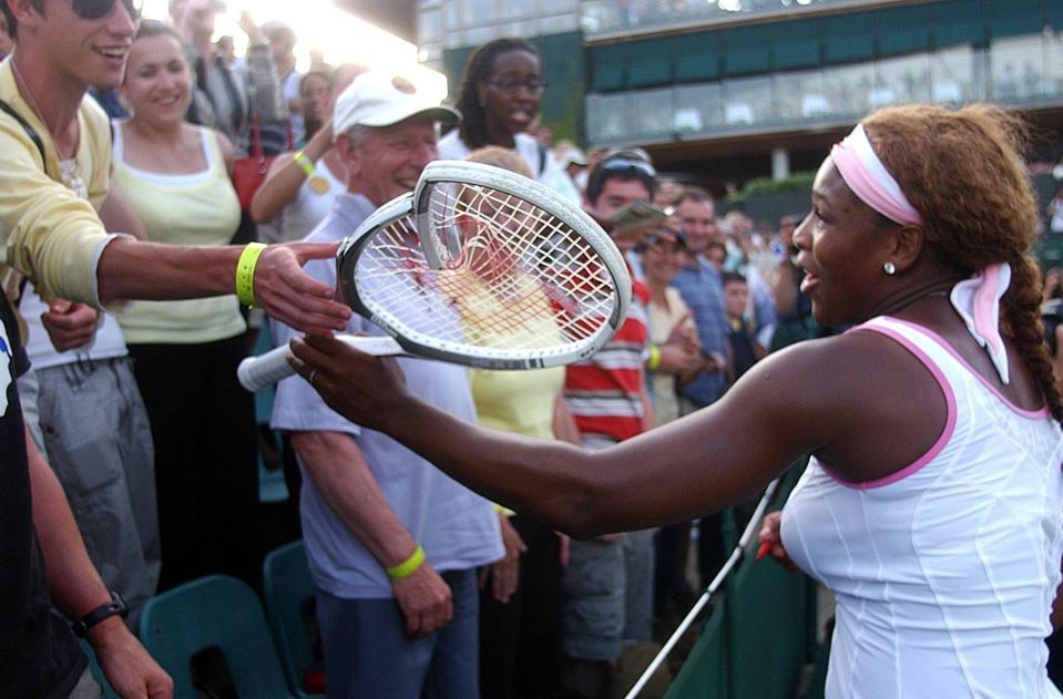 Tennis - Wimbledon Championships 2005 - Women's First Round - Angela Haynes v Serena Williams - All England Club
