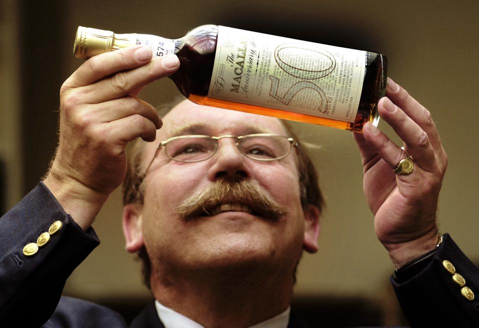 70 year old Whisky auction