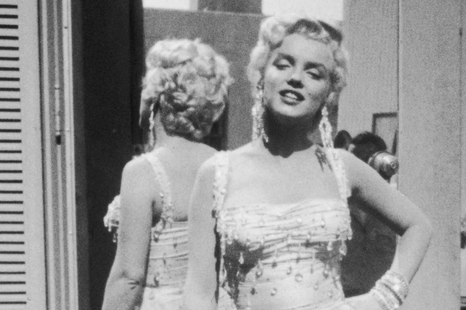 Marilyn Monroe On Set For 'There's No Business Like Show Business'