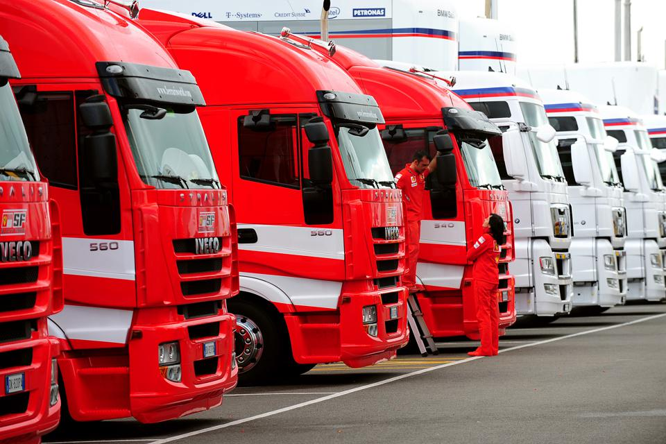 Hundreds of trucks transport F1's equipment around Europe (Rui Vieira - PA Images/PA Images via Getty Images)