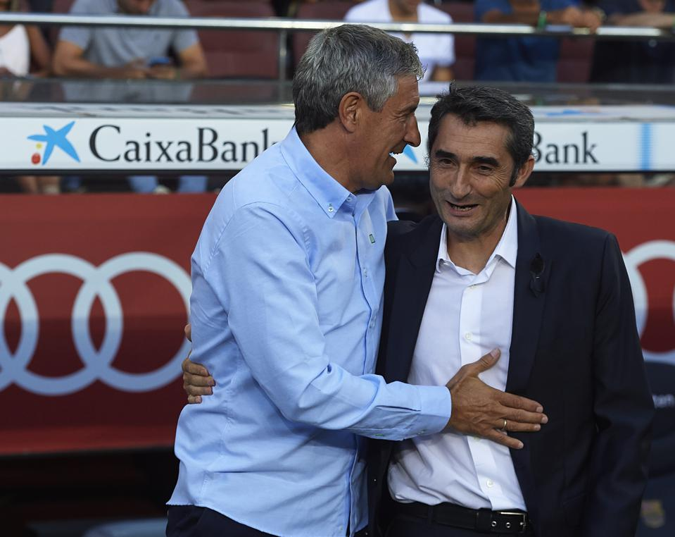 Ernesto Valverde has spoken in public a month after being fired as FC Barcelona manager